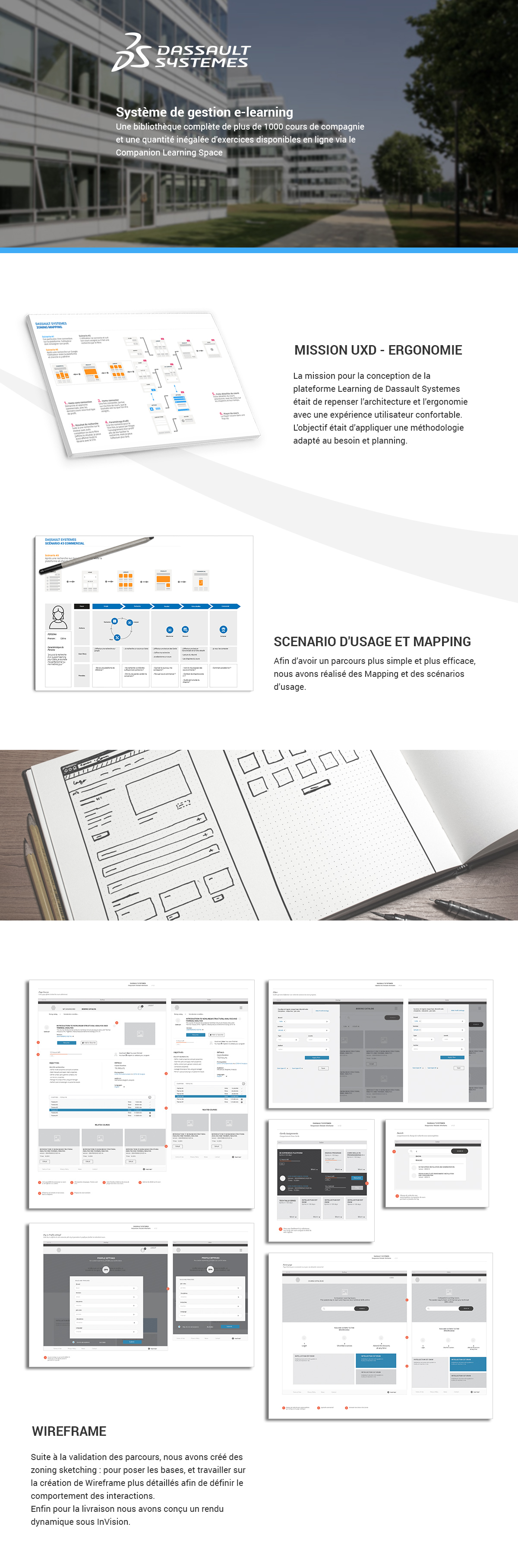 Ergonomie ux design freelance ergonome Scenario d'usage et mapping wireframe