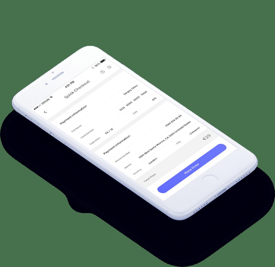 Site e-commerce sur mobile et laptop